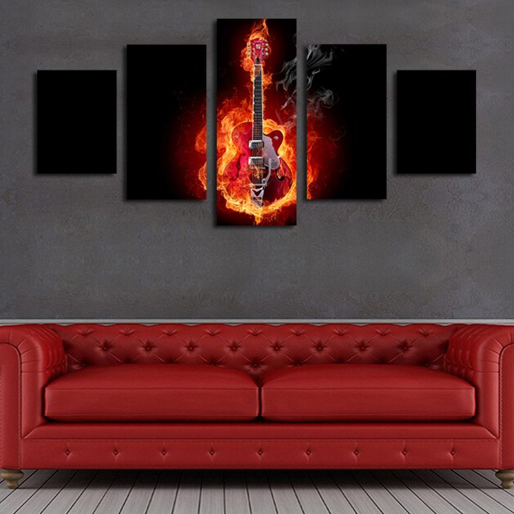 Abstract Flame Guitar https://walldecordeals.com/5-piece-abstract-flame-guitar-hd-picture-modern-home-wall-decor-for-living-room-print-painting-on-canvas-art-uframed/