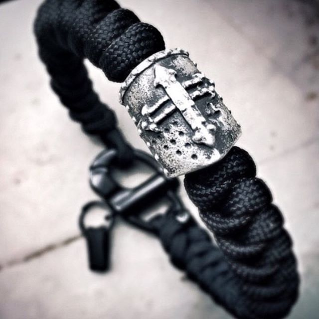 This Wrist Piece features a Limited Edition Crusader bead crafted by John Gage.You can find it in-store online at:  www.theoriginalparadime.com