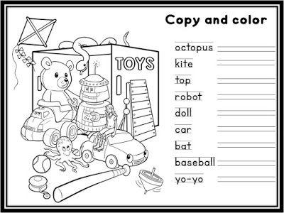 Enjoy Teaching English: Toys (activity worksheet)