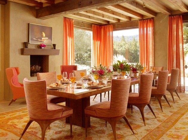 25 Amazing Orange belsőépítészeti