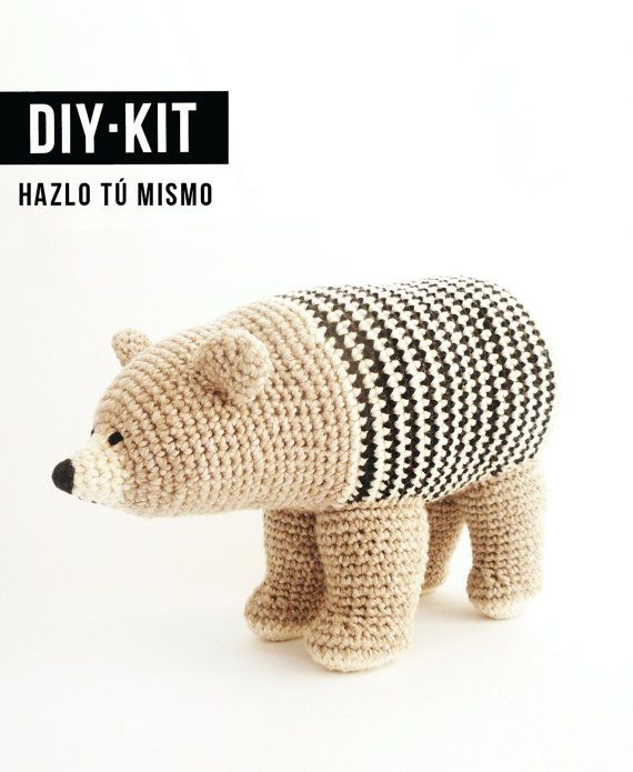 Patrón oso de ganchillo de algodón ecológico / Ós bru / por BruDiy