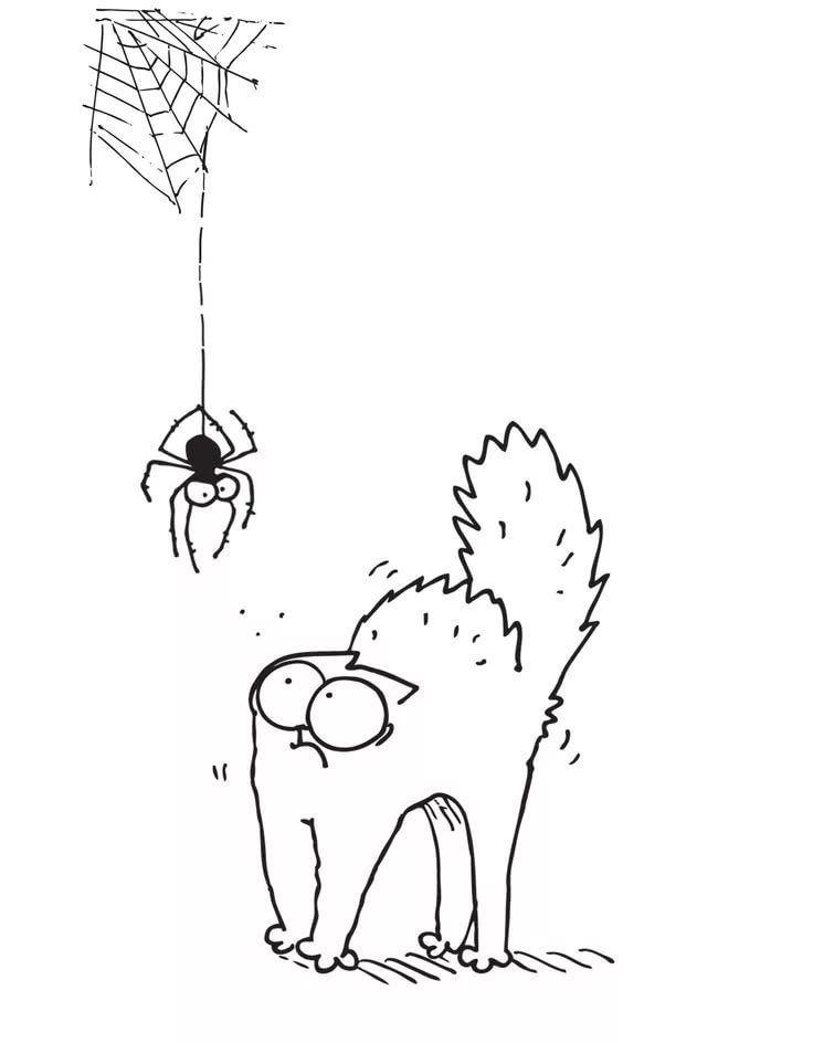 Днем, картинки карандашом прикольные кота