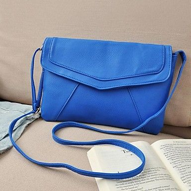 Women's Messenger PU Leather Envelope Shoulder Crossbody Bag – CAD $ 11.11