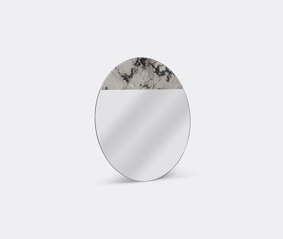 'One to one' digital marble print mirror by Armando Bruno