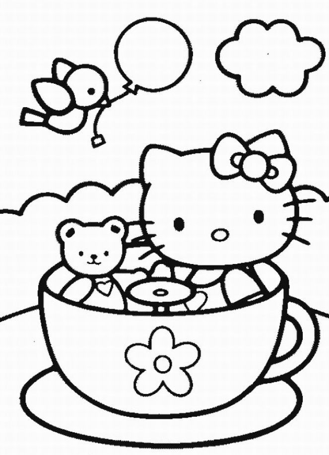 hello kitty coloring pages 4u - photo#16