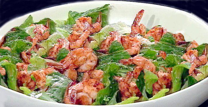 Рецепты салатов с креветками, кальмарами