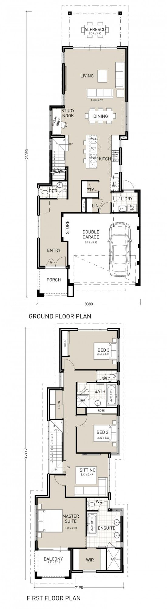 25 Best Ideas About Double Storey House Plans On