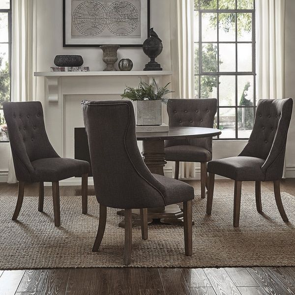 Voyager Wood and Zinc Balustrade 45-inch Round Dining Set by SIGNAL HILLS | Overstock.com Shopping - The Best Deals on Dining Sets