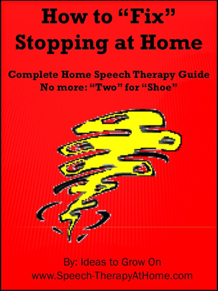 Complete home speech therapy guide to help parents work on Stopping. Therapy Ideas, Game Suggestions, Printable Minimal Pair Cards and More. $5.99