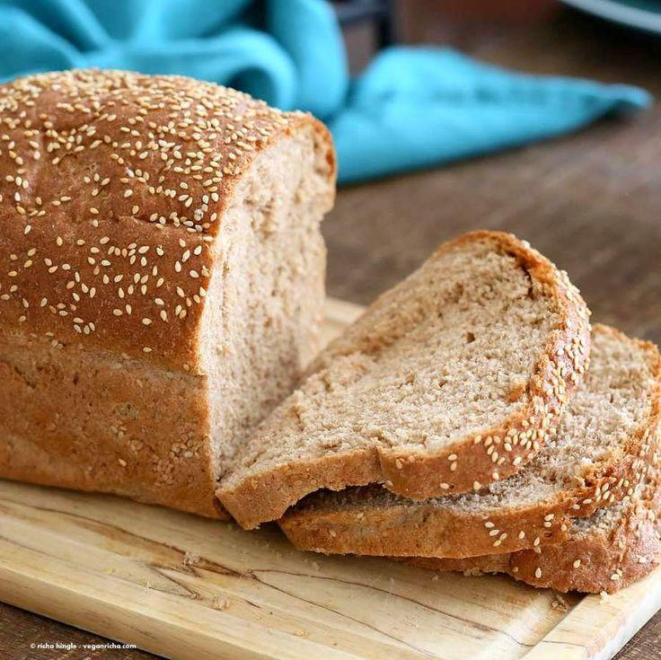 100 Whole Wheat Bread Recipe | Vegan Richa