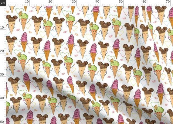 Eistüten Illustration Stoff – cool und süß Damen von Avisnana – Ice Crem …   – Products