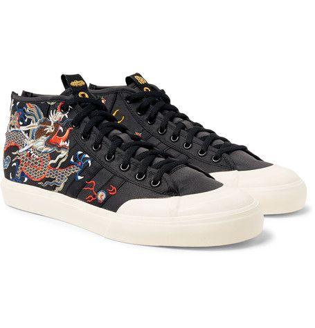 ADIDAS CONSORTIUM FOOTPATROL JUICE MATCHCOURT MID SNEAKERS.  #adidasconsortium #shoes #