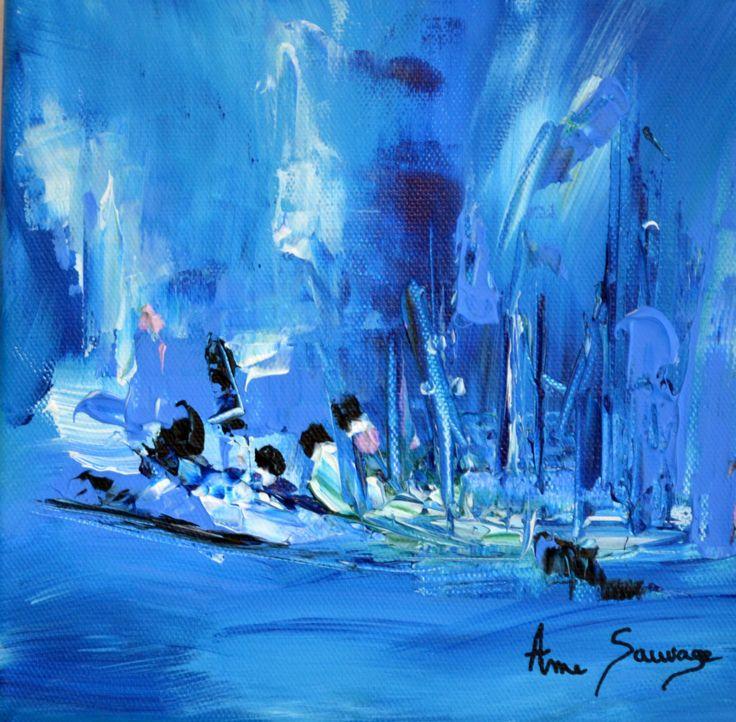 Découvrez ce tableau bleu de style abstrait intitulé Initiation. Il s'agit d'un tableau abstrait bleu unique et peint à la main par l'artiste peintre contemporain Ame Sauvage. Chaque tableau moderne présenté dans la galerie en ligne de l'artiste est une pièce unique. Ce tableau abstrait moderne mesure 20 x 20 cm et n'existe qu'en un seul exemplaire néanmoins une réalisation d'un tableau bleu sur mesure reste envisageable