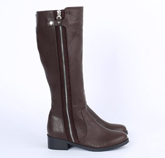 Korea womens shopping mall [REALCOCO] Yang Long Zipper Boots / Size : 230-250 / Price : 59 USD #realcoco #dailylook #officelook #lowprice #cute #shoes #boots