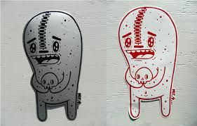 Image result for street art stickers