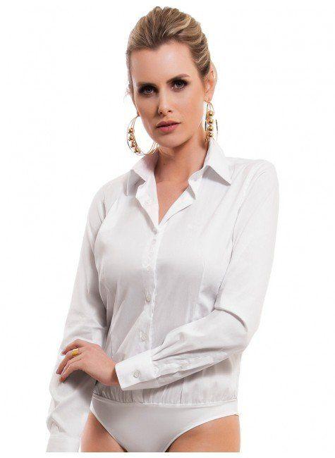 1e3191716 Camisa Body Branca Principessa Paola em 2019