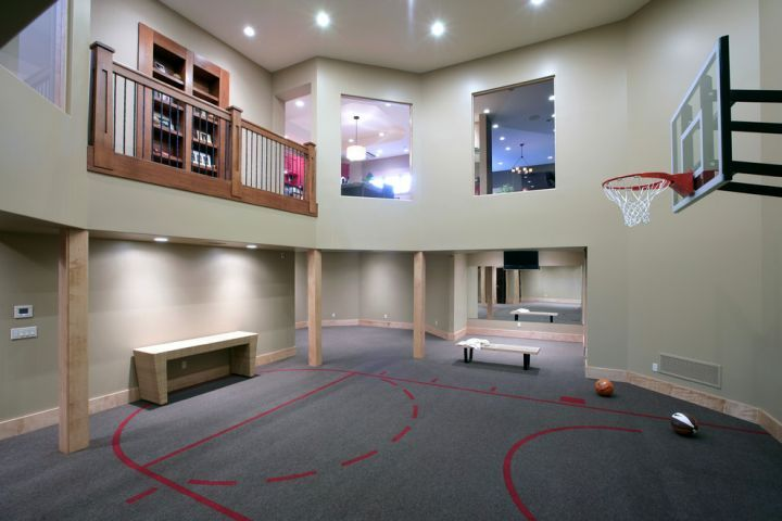 19 Modern Indoor Home Basketball Courts Plans And Designs Basketball Room Home Basketball Court Home Gym Design