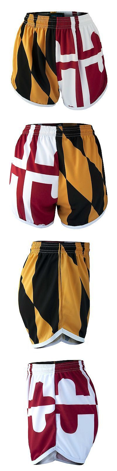 Other Womens Fitness Clothing 13360: Fit 2 Win Womens Maryland Flag Running Short Medium BUY IT NOW ONLY: $40.53