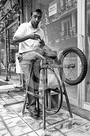 Street Knife Grinder At Old Quartier, Istanbul - Download From Over 40 Million High Quality Stock Photos, Images, Vectors. Sign up for FREE today. Image: 65895660