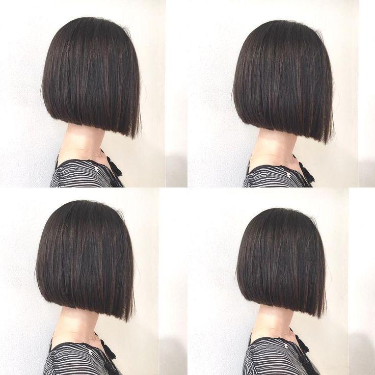 あご下ラインの パッツンボブ ナチュラルハイライトがくろかみqに馴染んで ボブにヌケ感を出します✨✨ カット✂︎7200 カラー8200 #hair #bob #shima #shimaplus1 #シマ #アッシュカラー #ぱっつん #クルーエル#fudge #パリ #tokyo #アンニュイ #cluel #ファッション #ストレートヘア #fashion #hairstyle #カジュアル #ぱっつん #パッツンボブ#ボブヘア #blackhair #黒髪ボブ #大人ミューズ
