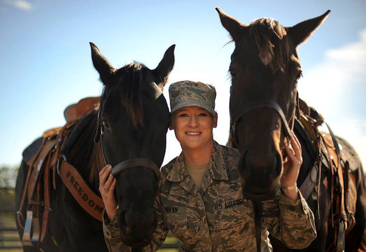 Stationed at McConnell Air Force Base since 2015, Lauren has two horses that occupy her time. Tiz Sunshine, 4 years old, and Shoobie, 6 years old, are both off-the-track thoroughbreds. Lauren has owned Tiz for two and a half years and Shoobie for about a year. She boards them in the local community and spends her off-time taking care of them and training them for barrel racing.