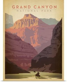 grand canyon vintage travel poster - Google Search