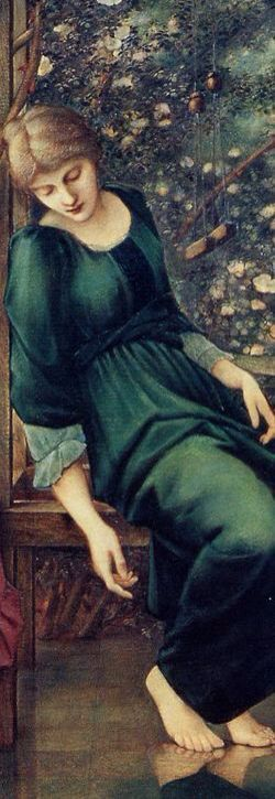Briar Rose (detail), from The Legend of Briar Rose series which Edward Burne-Jones completed in 1890. Oil on canvas