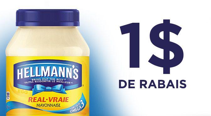 Coupon rabais Mayonnaisse Hellmann's de 1$