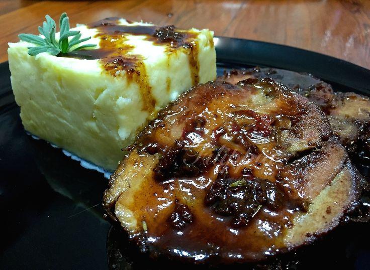 Χοιρινό με μέλι και μουστάρδα