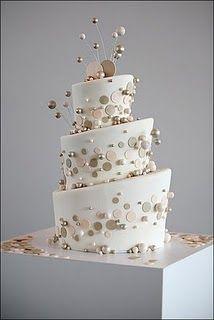 modern wedding cake - white, blush - bubble, orb, circle #wdspublishing