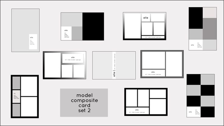 Model Comp Card Templates   Model Composite Card Templates   PSD Templates for Photoshop   Wonderfully Made Designs