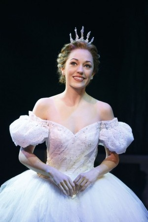 "Laura Osnes as Cinderella. ""She sparkles like all the stars in the sky."""