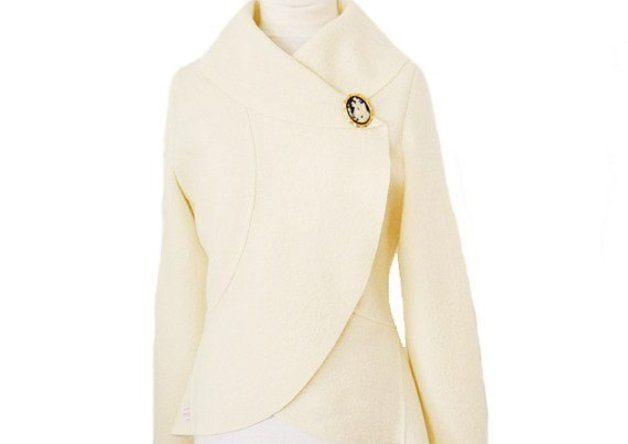 Kurzjacken - Walk Braut Bolero Jacke,Creme Hochzeit Gr.XS-L - ein Designerstück von Rosenrot-Modedesign bei DaWanda