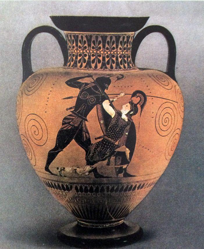La ceramica greca i vasi dipinti anfora a figure nere con for Vaso greco a due anse
