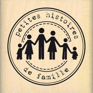 Tampon bois - Histoires de famille - 4cm: Tampon bois - Histoires de famille - 4cm