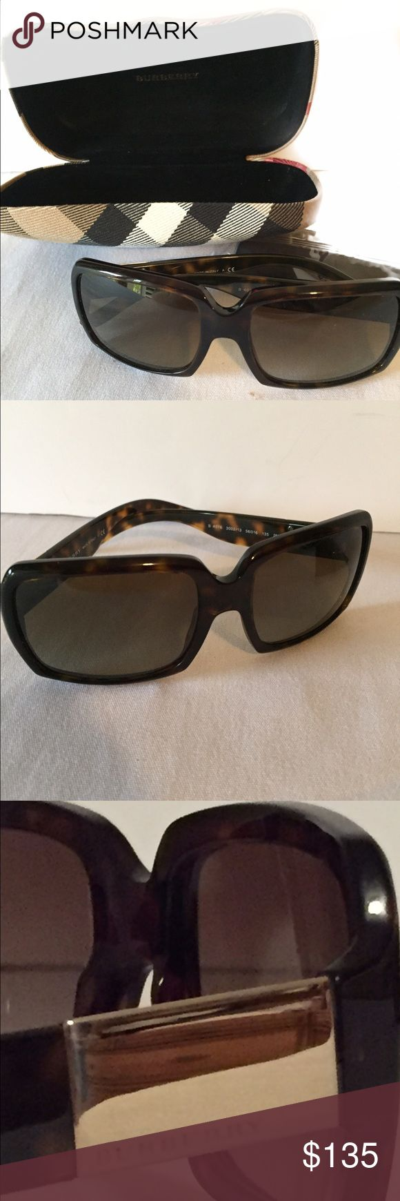 Tortoise color Burberry Sunglasses NWOT New with case, Tortoise color on the arms, a little darker around the frames. Dust cloth included. THEY ARE NEW BUT DO NOT HAVE TAGS! burberry Accessories Sunglasses