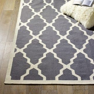 cheap rug from IKEA painted with a stencil