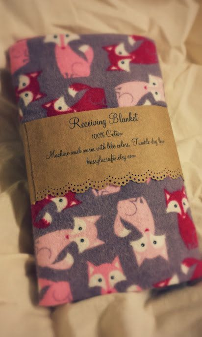 Found this cute receiving blanket with pink Foxes- adorable!! Just $6 too!
