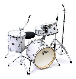 Gretsch Catalina Club Jazz 4 Piece Drum Set White Marine Pearl w OSP Hardware | eBay only $679!