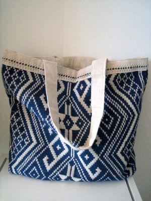 pretty woven bag: