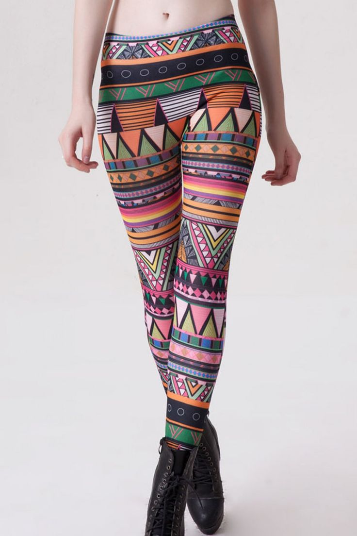 Multicolor Polyester and Spandex Legging with Printed - Z2503PNG79563-89