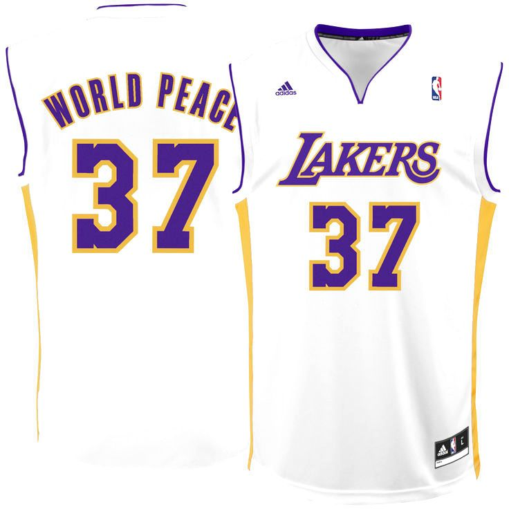 Metta World Peace Los Angeles Lakers adidas Replica Jersey - White - $69.99