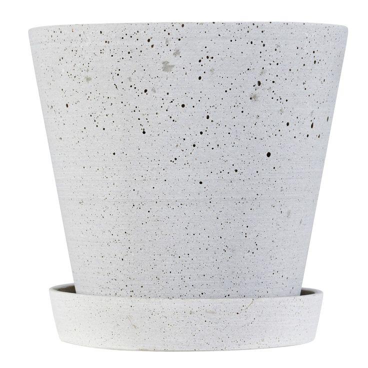Flower Pot krukke L, grå i gruppen Indretningsdetaljer / Dekoration / Vaser & Krukker hos ROOM21.dk (124397)