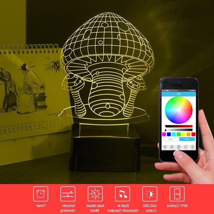 37.43$  Watch now - https://alitems.com/g/1e8d114494b01f4c715516525dc3e8/?i=5&ulp=https%3A%2F%2Fwww.aliexpress.com%2Fitem%2FDrop-Ship-Mushroom-3D-Light-Bluetooth-Speaker-Lamp-LED-Phone-Control-Desk-Table-Lamp-RGB-Music%2F32767686987.html - Drop Ship Mushroom 3D Light Bluetooth Speaker Lamp LED Phone Control Desk Table Lamp RGB Music Night Light Child Christmas Gift 37.43$