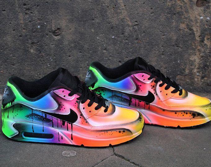 Benutzerdefinierte Airbrush Lackierung Nike Air Max 90 Crazy