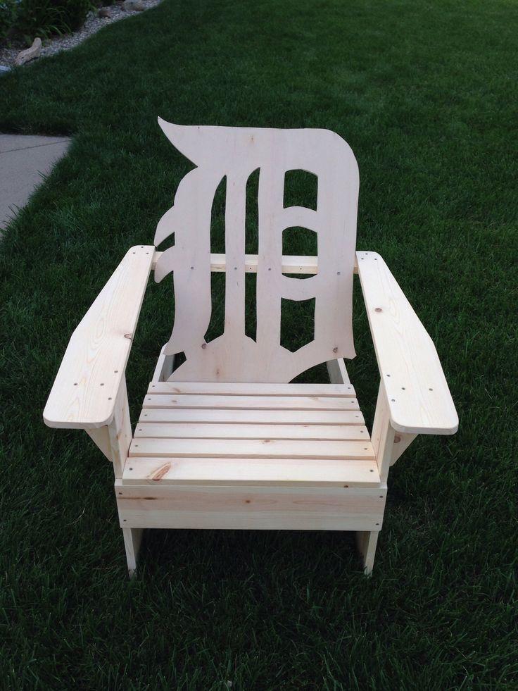 Old English D. Detroit Tigers Adirondack Chair