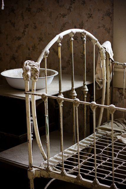 Grandma scored us an absurdly lovely antique cast iron crib with fortuitous close together bars; now we just have to contemplate bedding. I'm not a fan of most baby bedding -- why all the bows and pastels?