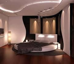 Une chambre avec un lit rond, le design dans toutes les pièces de la maison.