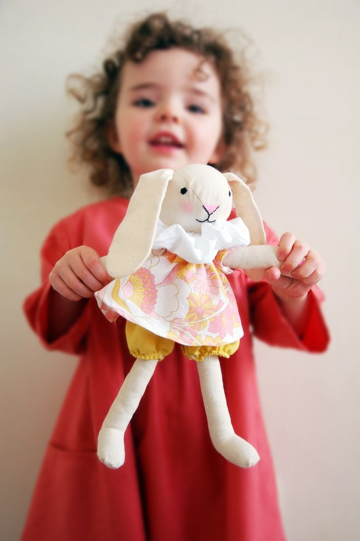 The Spring Bunny Fabric Soft Toy For Kids Free Sewing