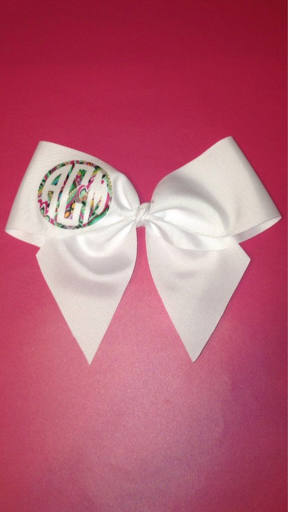 Lily Pulitzer Monogram Cheer Bow FREE SHIPPING on Etsy, $6.50